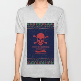 Rock and Roll Christmas Unisex V-Neck