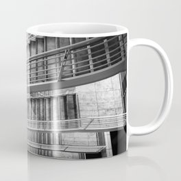 Exterior Stairway at the Getty bw Coffee Mug
