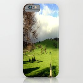 Follow the fence Line iPhone Case