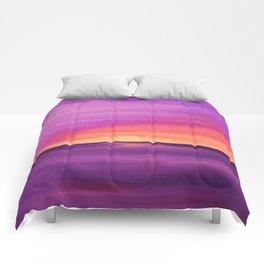 Purple Sunset Comforters
