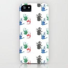 Handprints iPhone Case