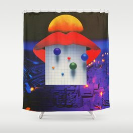 Germination Grid Shower Curtain