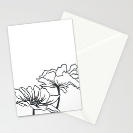 Paper-cut Poppy Stationery Cards