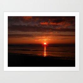 sunset at maidens Art Print