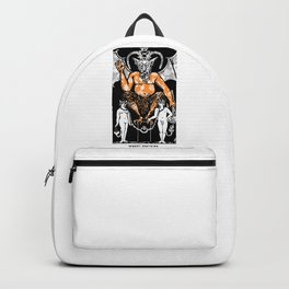 Floral Tarot Print - The Devil Backpack