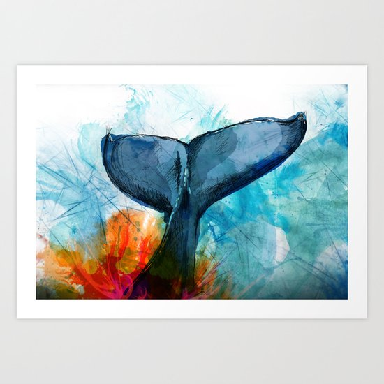 The Fluke Art Print