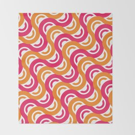 refresh curves and waves geometric pattern Throw Blanket