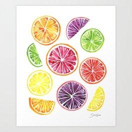 Citrus Wheels Art Print
