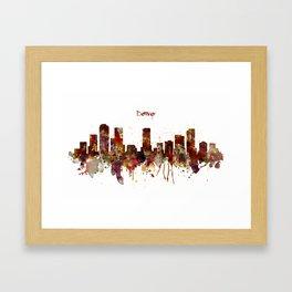 Denver Skyline Silhouette Framed Art Print