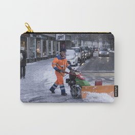 Ploughing the snow Carry-All Pouch