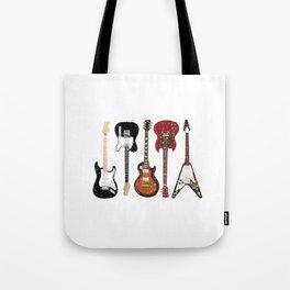 Guitar Player Electric Guitar and Acoustic Design Tote Bag