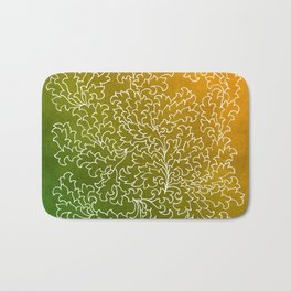 Green Yellow Grunge Leaves Bath Mat