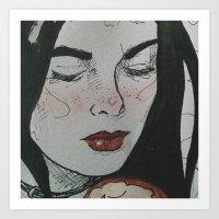 Femme fatale III Art Print