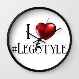 I (Heart) #LegStyle Wall Clock