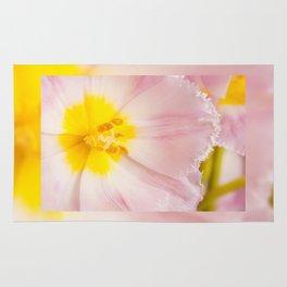Yellow stamen of pink tulip Rug