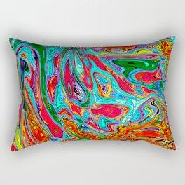 Marbled V Rectangular Pillow