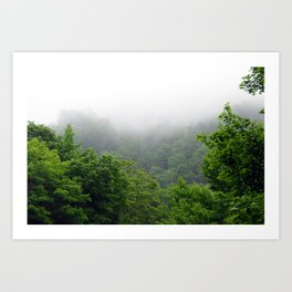 Hokkaido Mists Art Print