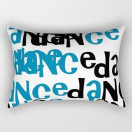 dance in blue Rectangular Pillow
