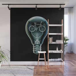 Dark Bicycle Bulb Wall Mural