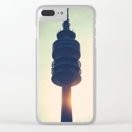 The Munich Olympiaturm Clear iPhone Case