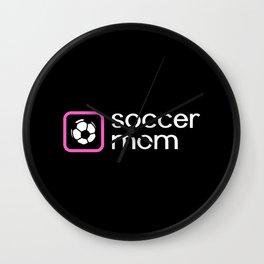 Soccer Mom (Pink) Wall Clock