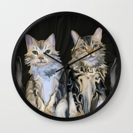 Marble Meows Wall Clock