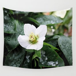 christmas rose Wall Tapestry
