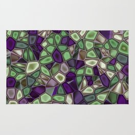 Fractal Gems 02 - Purples and Greens Rug
