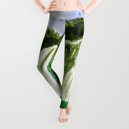 Waterfall Ban Gioc in Vietnam Leggings