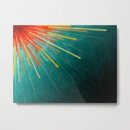 Aqua Starburst Metal Print