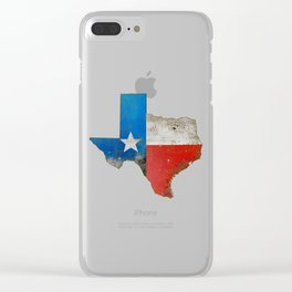 Rustic Texas Sign Clear iPhone Case
