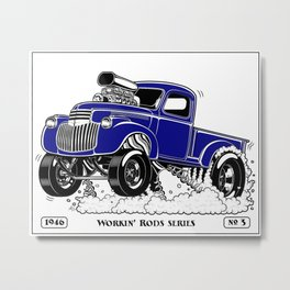 1946 Chevy Pick-up – BLUE Metal Print