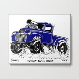 1946 Chevy Pick-up – BLUE Metal Print