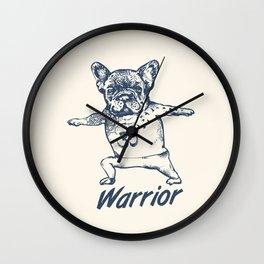 Be a Warrior French Bulldog Wall Clock