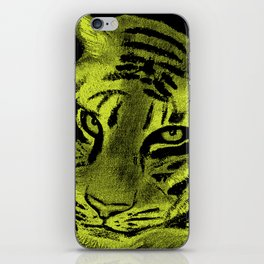 Tiger with Lime Background iPhone Skin
