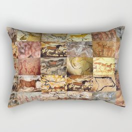 Cave Paintings Montage Rectangular Pillow