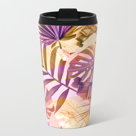 Tropical fiesta - sunrise Metal Travel Mug