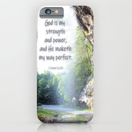 God is my strength iPhone Case