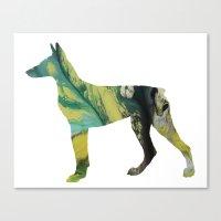 doberman Canvas Prints featuring Doberman  by FurittusDesigns