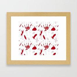 winter floral white Framed Art Print