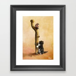 The Cat, the Bird and the Mouse Framed Art Print