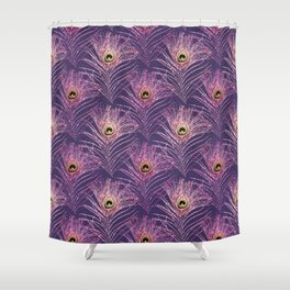 Peacock Glitter Feather Pattern 20 Shower Curtain