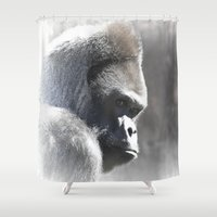 ape Shower Curtains featuring Ape Dream by Agrofilms