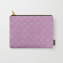 Violet Purple Quatrefoil Pattern Carry-All Pouch