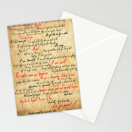 Grantaire Stationery Cards