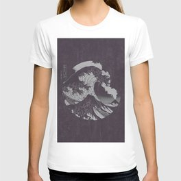 The Great Wave off Kanagawa Black and White T-shirt
