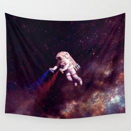 """Shooting Stars"" - Astronaut Artist Wall Tapestry"