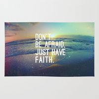 pocketfuel Area & Throw Rugs featuring JUST HAVE FAITH by Pocket Fuel