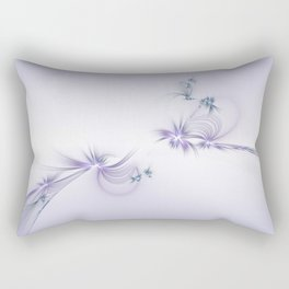 Fey Lights Fractal in Violet Rectangular Pillow
