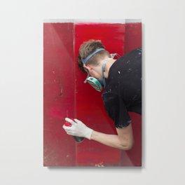 Red Graffiti Metal Print